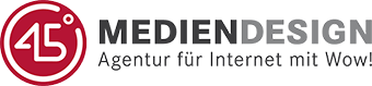 Logo: 45 Grad - Mediendesign GmbH